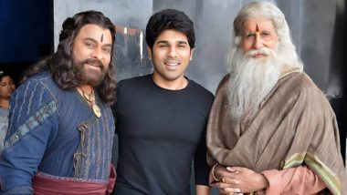 Sye Raa Narasimha Reddy: Allu Sirish's Excitement Is Sky-High After Clicking a Pic with Legends Chiranjeevi and Amitabh Bachchan