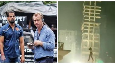Tenet: Christopher Nolan Shoots a Deadly High-Rise Stunt for His Espionage Thriller in Mumbai (Watch Video)