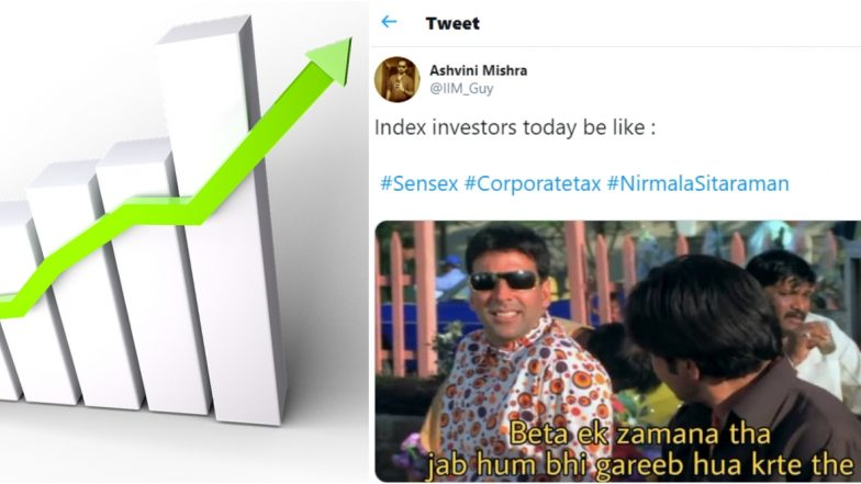 Funny Sensex Memes Take Over Twitter After Markets Zoom Following Nirmala Sitharaman's Corporate Tax Cut Announcement