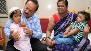 Separated Craniopagus Twins Jagga and Baliya Leave for Home in Odisha