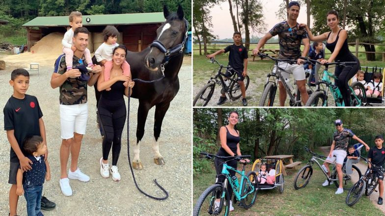 Cristiano Ronaldo Enjoys Quality Family Time Ahead of Juventus' 2019-20 Champions League Opener Against Atletico Madrid (See Pics)