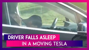 Tesla Driver Asleep At The Wheel Of Self-Driving Car While Speeding At 90km/hr In Massachusetts