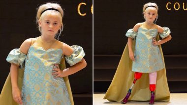 Daisy-May Demetre, 9-Year-Old Becomes First Double Amputee Model to Walk the New York and Paris Fashion Week Runway
