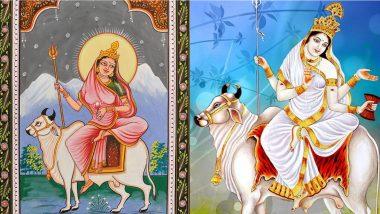 Navratri 2020 Shailaputri Puja: Know The Colour and Goddess of Day 1 to Worship The First Avatar of Maa Durga This Sharad Navaratri
