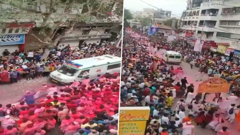 Devotees Give Way to Ambulance During Ganesh Idol Immersion Procession, Viral Video Wins Heart