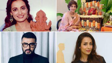 Happy Ganesh Chaturthi 2019: Dia Mirza, Sonali Bendre, Arjun Kapoor, Malaika Arora and Other Celebs Wish Fans On the Auspicious Occasion (View Pics)