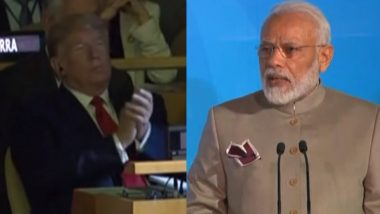 Donald Trump Makes Unexpected Appearance at UN Climate Change Summit, Listens to PM Narendra Modi, Angela Merkel's Address