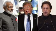 Donald Trump Offers to Mediate Again in Kashmir Issue if India And Pakistan Agree, Says 'I Trust Imran Khan'