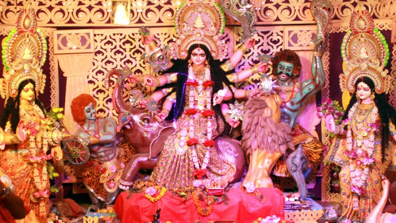 Durga Puja 2019 Vahan in Navratri: What Is Goddess Durga's Vehicle for Arrival and Departure This Year? Know the Meaning & Significance of Different Vahans