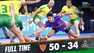 PKL 2019 Match Result: Dabang Delhi Beat Tamil Thalaivas 50–34; DD Becomes First to Touch 50 Points in Season 7