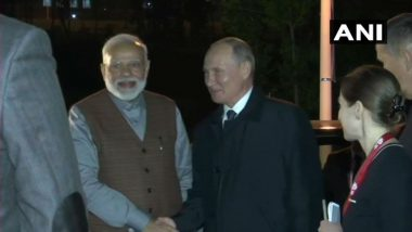 PM Narendra Modi Explains Rationale Behind Jammu and Kashmir Decision to Vladimir Putin; Thanks Him for Support