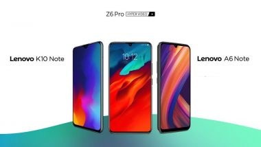 Lenovo K10 Note, Z6 Pro & A6 Note Smartphones Launched in India; Prices, Features, Variants & Specifications