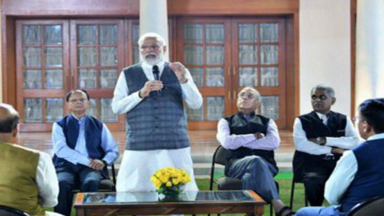 PM Narendra Modi Hosts Farewell Programme for His Principal Secretary Nripendra Misra
