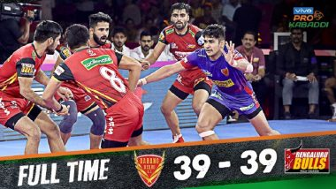 PKL 2019 Match Results: Bengaluru Bulls, Dabang Delhi Play Out 39–39 Enthralling Draw