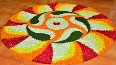 Onam 2019 Pookalam Designs for Beginners: Easy and New Rangoli Designs With Flowers for Thiru Onam (View Images and Videos)