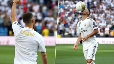 Eden Hazard in Real Madrid News Update: Belgian Forward to Make Debut For Los Blancos in La Liga 2019 Against Levante