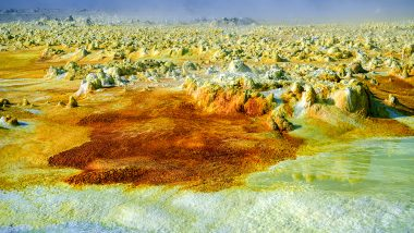 Danakil Depression: Surreal Pictures of Sulphur Lakes And Volcanoes in This Inhospitable Desert in Ethiopia Are Mesmerising!