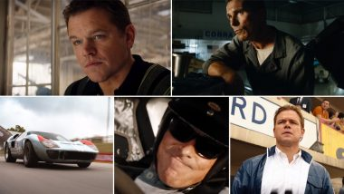 Ford v Ferrari New Trailer: Christian Bale and Matt Damon are Determined to Win this War Against the Italian Luxury Sports Car Mogul (Watch Video)