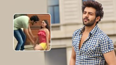 Kartik Aaryan's Fan Trembles on Meeting Him, Video of This Young Girl Going Down on Her Knees Goes Viral