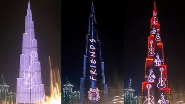 Burj Khalifa Lights Up in FRIENDS Theme to Mark American Sitcom's 25th Anniversary (Watch Video)