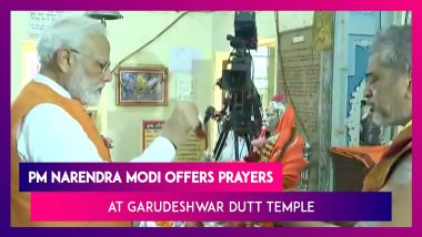 PM Narendra Modi Offers Prayers At Garudeshwar Dutt Temple On His 69th Birthday