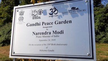 Gandhi Solar Park, Peace Garden Inaugurated at UN