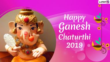 Ganesh Chaturthi Images & HD Wallpapers for Free Download Online: Wish Happy Ganeshotsav 2019 With Bal Ganpati Photos, GIF Greetings & WhatsApp Sticker Messages