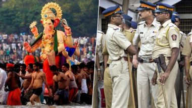 Ganesh Visarjan 2019 Traffic Advisory: Mumbai Police Issues Outline Maps For Routes Allotted to Devotees For Ganpati Immersion