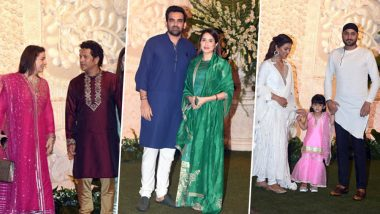 Ganpati At Antilia: Sachin Tendulkar, Zaheer Khan, Harbhajan Singh & Other Cricketers Attend Ambanis' Ganesh Chaturthi 2019 Celebration (View Pics)