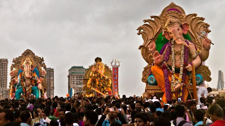 Ganpati Visarjan on Anant Chaturdashi 2019: Best Places in Mumbai to See Immersion of Lord Ganesh Idols and Be Part of Colourful Processions