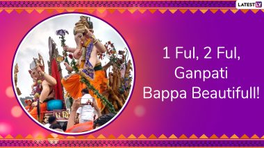 Happy Anant Chaturdashi 2019 Messages: WhatsApp Stickers, GIF Images, Quotes and Greetings to Say Goodbye and Send Heart-Warming Wishes on Ganpati Visarjan