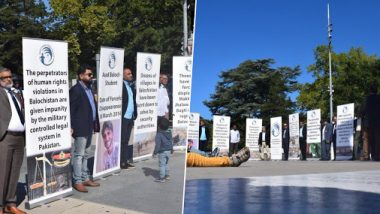 Protests Against Pakistan Army: Baloch & Sindhi Activists Stage Demonstrations At Broken Chair Outside UN Office Over Enforced Disappearances
