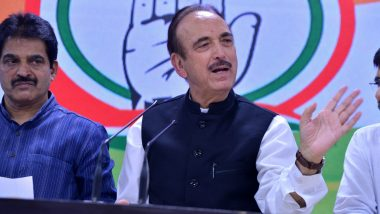 Congress Leader Ghulam Nabi Azad to Visit Srinagar Today