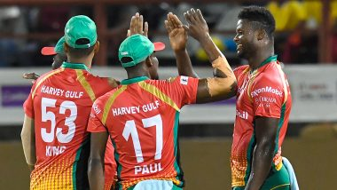 St Kitts and Nevis Patriots vs Guyana Amazon Warriors, CPL 2019 Match LIVE Cricket Streaming on Star Sports and Hotstar: Live Score, Watch Free Telecast on TV & Online