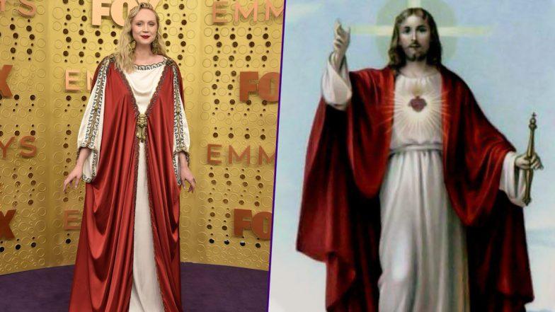 Gwendoline Christie Walks Emmy 2019 Purple Carpet Making The Internet Go, 'JESUS CHRIST!'
