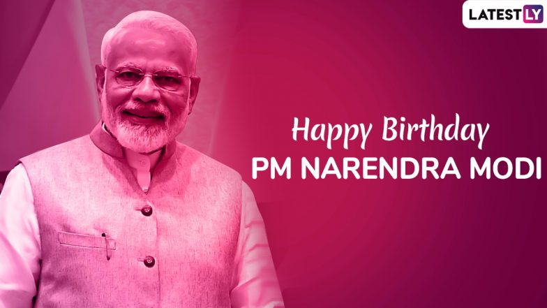 Happy Birthday, PM Narendra Modi: Messages And Wishes to Share as WhatsApp Stickers, DP, Facebook Status, Greeting Photos, Tweet to Wish The Prime Minister As He Turns 69