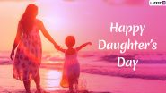 Daughter's Day Images & HD Wallpapers for Free Download Online: Wish Happy Daughter's Day 2019 With Beautiful WhatsApp Stickers, GIF Greetings & Picture Messages
