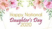 Daughter's Day 2020 Images & HD Wallpapers for Free Download Online: Wish Happy National Daughter's Day With Beautiful WhatsApp Stickers, GIF Greetings & Picture