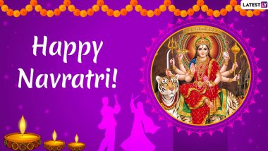 Navratri 2019 Wishes & Navaratri Images Full HD: WhatsApp Stickers, GIF Greetings, SMS, Quotes, Facebook Photos, Messages to Send During Sharad Navaratri