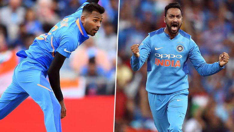 Hardik Pandya & Krunal Pandya Train in Net Against Each Other Ahead of IND vs SA T20I Series (Watch Video)