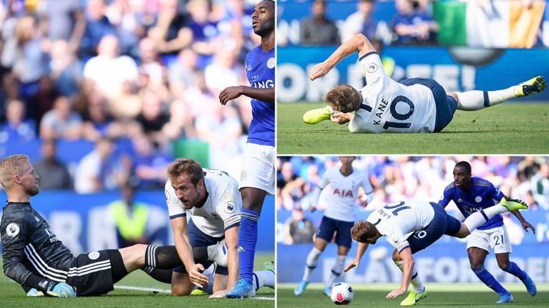 Harry Kane Scores World-Class Goal While Lying on the Floor during Tottenham Hotspur vs Leicester City Match in English Premier League (Watch Video)