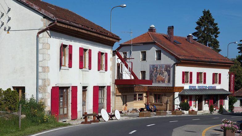 Travel Tip of the Week: This Unique Hotel on French-Swiss Border Lets You Sleep in France and Switzerland at The Same Time!