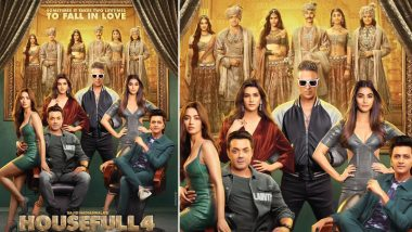 Housefull 4 Poster: Akshay Kumar, Ritiesh Deshmukh and Co are Ready to Continue Their Love-story In The Next Birth (View Pic)