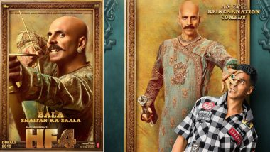 Housefull 4 First Look: Akshay Kumar as Bald 'Bala' and Hairy 'Harry' Will Tickle You Funny (See Pics)