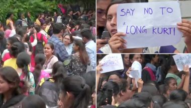 Hyderabad: Students of St. Francis College For Women Stage Protest Against College Diktat of Wearing Long Kurtis, Circular Withdrawn