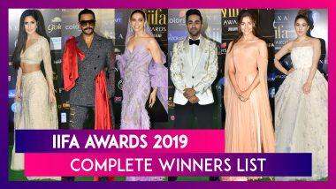 IIFA Awards 2019 Winners List: Alia Bhatt, Ranveer Singh win top honours, Raazi bags best film