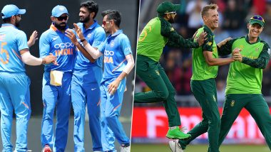 IND vs SA Head to Head Record: Ahead of 1st T20I 2019 Clash, Here Are Match Results of Last 5 India vs South Africa Encounters!