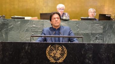 Imran Khan Speech at UNGA: 'Islamophobia Dividing the World, People Okay With Women Taking Off Their Clothes But Not Okay With Muslim Women Wearing Hijab', Says Pakistan Prime Minister