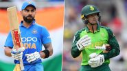 Live Cricket Streaming of India vs South Africa 3rd T20I 2019 Match on DD Sports and Hotstar: Check Live Cricket Score, Watch Free Telecast of IND vs SA on TV and Online