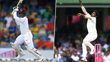 Live Cricket Streaming of India vs West Indies 2019, 2nd Test Match Day 4 on DD Sports and SonyLiv: Check Live Cricket Score, Watch Free Telecast of IND vs WI on TV and Online